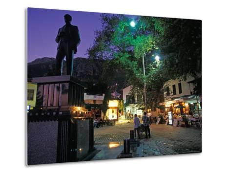 Village of Kas at Night, Turquoise Coast, Turkey-Nik Wheeler-Metal Print
