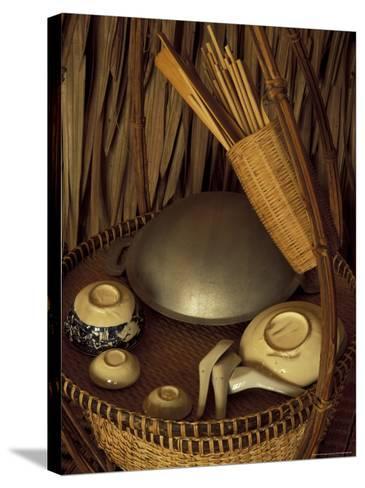 Traditional Food Basket, Vietnam-Keren Su-Stretched Canvas Print