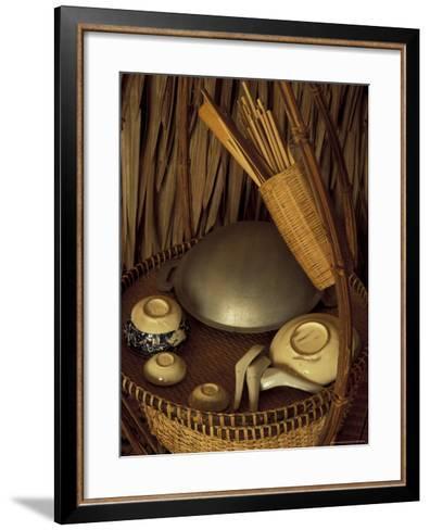 Traditional Food Basket, Vietnam-Keren Su-Framed Art Print