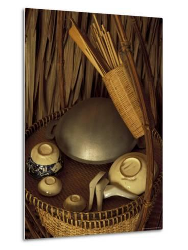 Traditional Food Basket, Vietnam-Keren Su-Metal Print