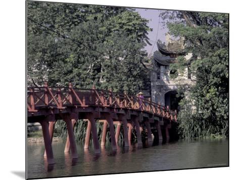 Wooden Bridge, Swan Lake, Hanoi, Vietnam-Keren Su-Mounted Photographic Print