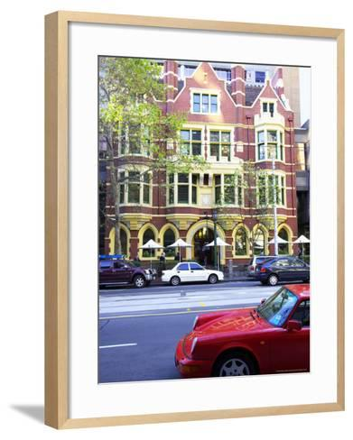Collins Street, Melbourne, Victoria, Australia-David Wall-Framed Art Print