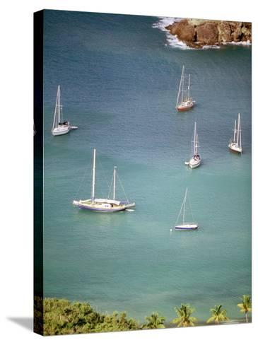 Yachts Anchor in British Harbor, Antigua, Caribbean-Alexander Nesbitt-Stretched Canvas Print
