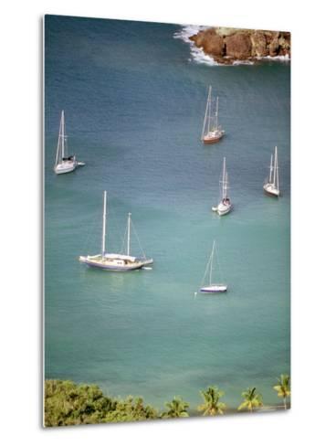 Yachts Anchor in British Harbor, Antigua, Caribbean-Alexander Nesbitt-Metal Print