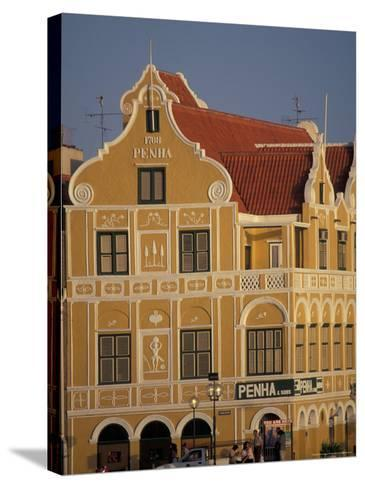 Penha and Sons Building, Willemstad, Curacao, Caribbean-Robin Hill-Stretched Canvas Print