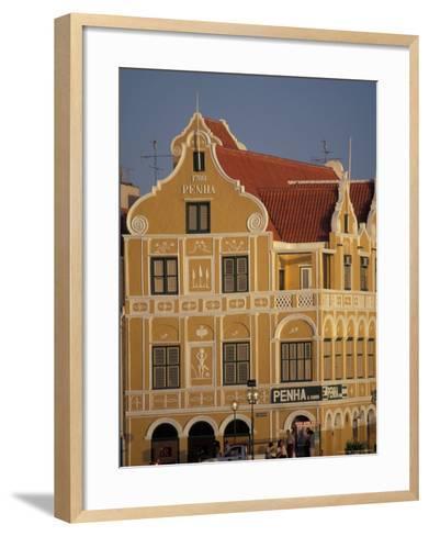 Penha and Sons Building, Willemstad, Curacao, Caribbean-Robin Hill-Framed Art Print