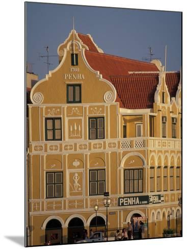 Penha and Sons Building, Willemstad, Curacao, Caribbean-Robin Hill-Mounted Photographic Print