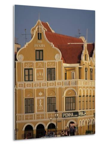 Penha and Sons Building, Willemstad, Curacao, Caribbean-Robin Hill-Metal Print
