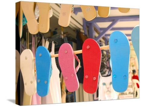 Beach Shoes, Bourg Des Saintes, Grande Terre, Guadaloupe, Caribbean-Walter Bibikow-Stretched Canvas Print