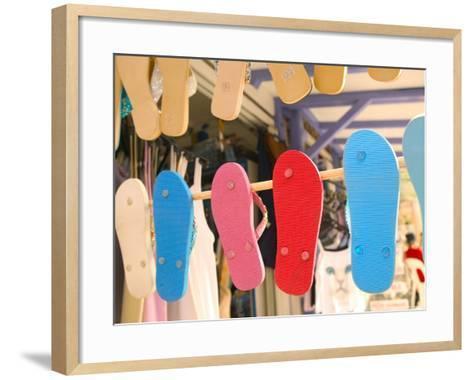 Beach Shoes, Bourg Des Saintes, Grande Terre, Guadaloupe, Caribbean-Walter Bibikow-Framed Art Print