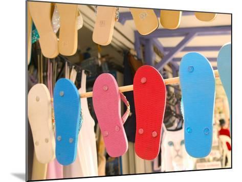 Beach Shoes, Bourg Des Saintes, Grande Terre, Guadaloupe, Caribbean-Walter Bibikow-Mounted Photographic Print