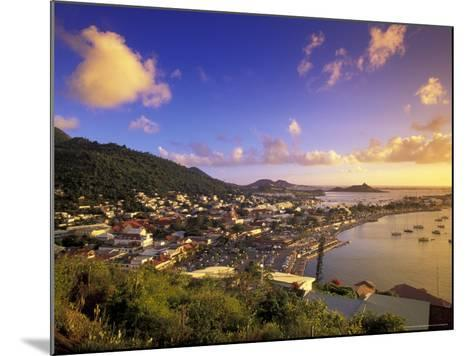 Sunset View of Marigot from Ft Louis, St. Martin, Caribbean-Walter Bibikow-Mounted Photographic Print