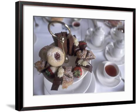 Afternoon Tea at the Butchart Gardens, Vancouver Island, British Columbia, Canada-Connie Ricca-Framed Art Print