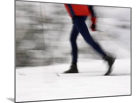 Cross Country Skiing on Spray River Trail, Banff, Alberta-Michele Westmorland-Mounted Photographic Print