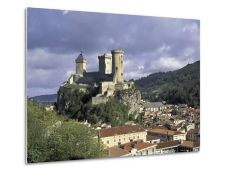 Chateau Comtal, Pyrenees, France-David Barnes-Metal Print