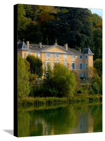 Home along the Saone River, France-Lisa S^ Engelbrecht-Stretched Canvas Print