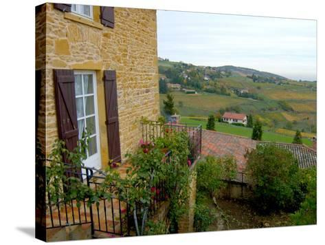 View of Countryside in Olingt, Burgundy, France-Lisa S^ Engelbrecht-Stretched Canvas Print