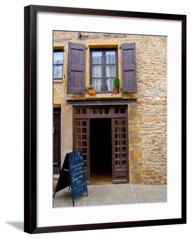 Cafe Menu, Olingt, Burgundy, France-Lisa S^ Engelbrecht-Framed Art Print