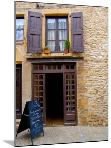 Cafe Menu, Olingt, Burgundy, France-Lisa S^ Engelbrecht-Mounted Photographic Print