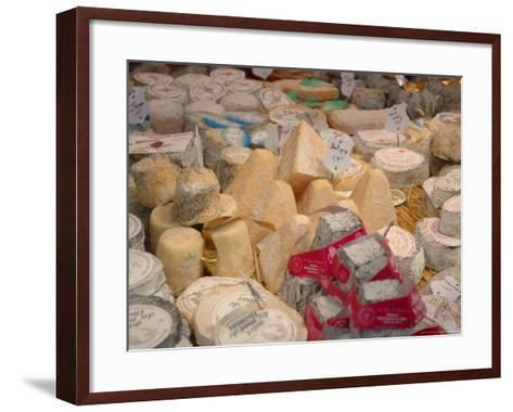 Cheese Variety in Shop, Paris, France-Lisa S^ Engelbrecht-Framed Art Print