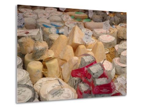 Cheese Variety in Shop, Paris, France-Lisa S^ Engelbrecht-Metal Print