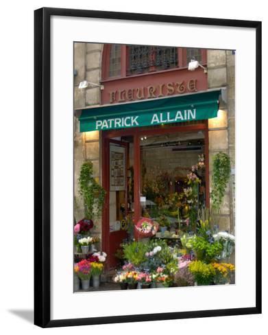 Florist in Ile St. Louis, Paris, France-Lisa S^ Engelbrecht-Framed Art Print