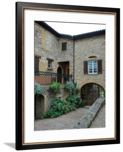 Entrance to Wine Tasting Room in Chateau de Cercy, Burgundy, France-Lisa S^ Engelbrecht-Framed Art Print