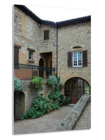 Entrance to Wine Tasting Room in Chateau de Cercy, Burgundy, France-Lisa S^ Engelbrecht-Metal Print