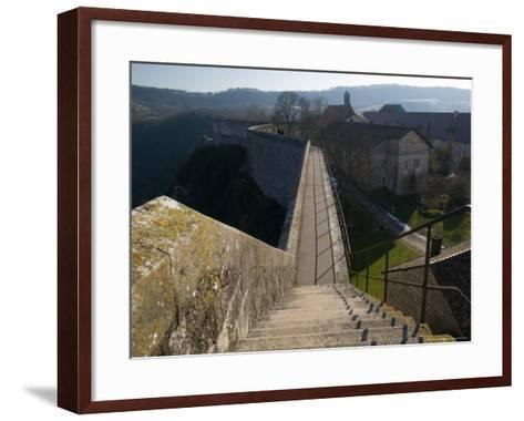 Bescancon Citadelle, View From Fortress Built in 1672, Bescancon, Jura, Doubs, France-Walter Bibikow-Framed Art Print