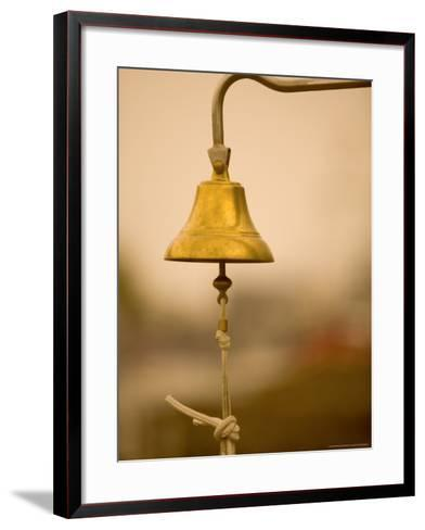 Ship's Bell, Warnemunde, Germany-Russell Young-Framed Art Print