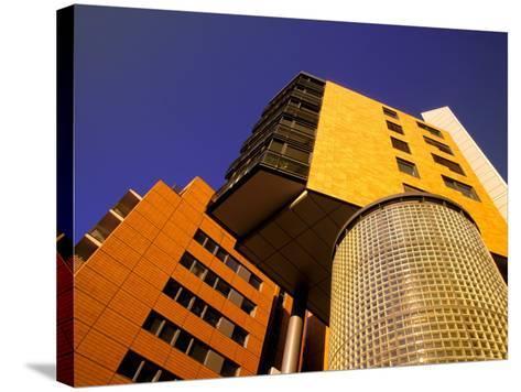 Daimler Chrysler Buildings, Potsdamer Platz, Berlin, Germany-Walter Bibikow-Stretched Canvas Print