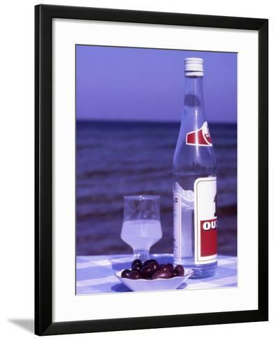 Ouzo and Plate of Black Olives, Greece-Steve Outram-Framed Art Print