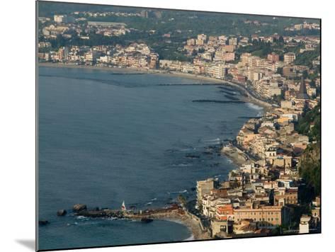 Morning View of Giardini-Naxos Resort, Taormina, Sicily, Italy-Walter Bibikow-Mounted Photographic Print