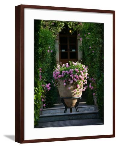 Garden Detail, San Domenico Palace Hotel, Taormina, Sicily, Italy-Walter Bibikow-Framed Art Print