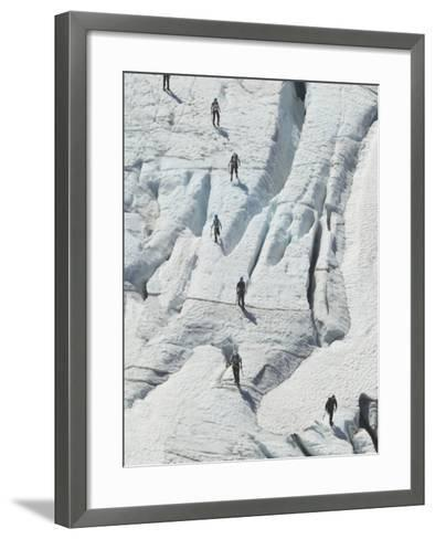 Glacier Hikers on Folgefonna Glacier, Norway-Russell Young-Framed Art Print