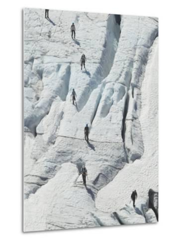 Glacier Hikers on Folgefonna Glacier, Norway-Russell Young-Metal Print