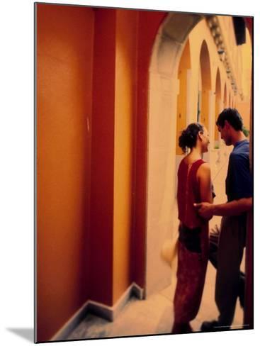 Spanish Couple Outside of Hotel Muncey, Tenerife, Canary Islands, Spain-Stuart Westmoreland-Mounted Photographic Print