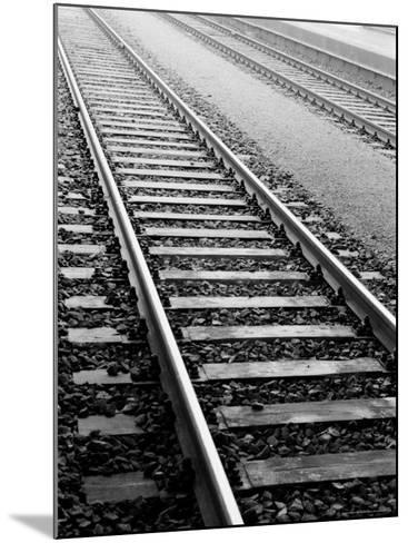 Train Tracks, Zurich, Switzerland-Walter Bibikow-Mounted Photographic Print