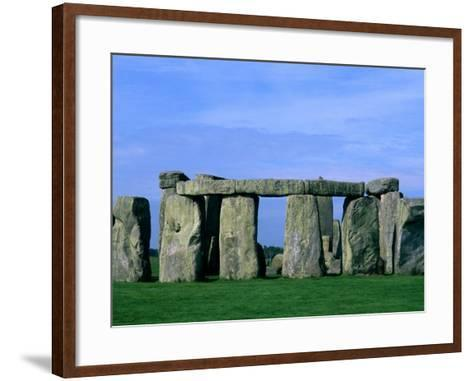 Abstract of Stones at Stonehenge, England-Bill Bachmann-Framed Art Print