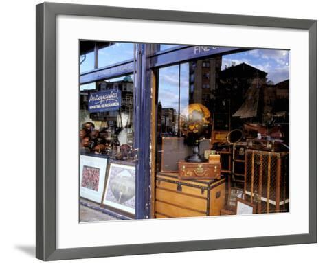 Sports Memorabilia Shop, Westbourne Grove, Notting Hill, London, England-Inger Hogstrom-Framed Art Print
