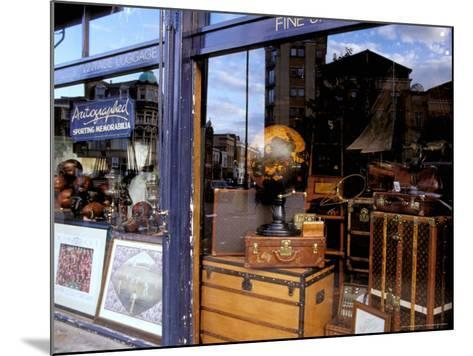 Sports Memorabilia Shop, Westbourne Grove, Notting Hill, London, England-Inger Hogstrom-Mounted Photographic Print