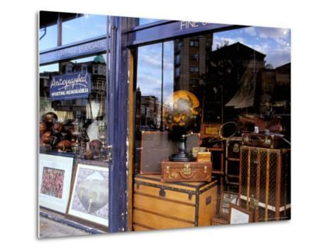Sports Memorabilia Shop, Westbourne Grove, Notting Hill, London, England-Inger Hogstrom-Metal Print