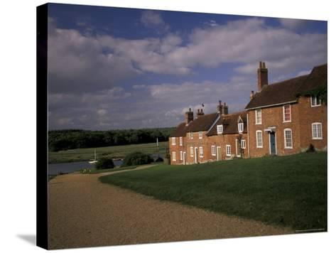 Cottages at Buckler's Hard, New Forest, Hampshire, England-Nik Wheeler-Stretched Canvas Print