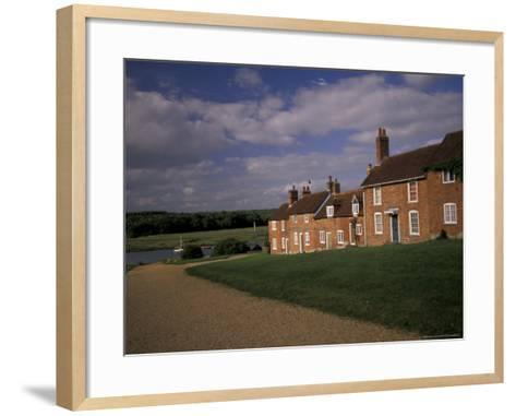 Cottages at Buckler's Hard, New Forest, Hampshire, England-Nik Wheeler-Framed Art Print