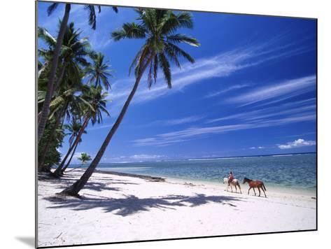 Girl on Beach with Coconut Palm Trees, Tambua Sands Resort, Coral Coast, Fiji-David Wall-Mounted Photographic Print