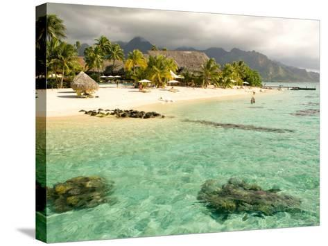 Sheraton Resort in Moorea, French Polynesia-Michele Westmorland-Stretched Canvas Print