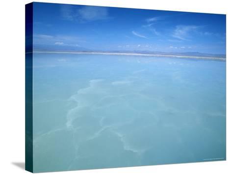 Salt-Laden Water of Lagunada Salada in the Salar de Atacama, Salt Flat, Atacama Desert, Chile-Lin Alder-Stretched Canvas Print