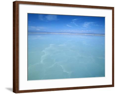 Salt-Laden Water of Lagunada Salada in the Salar de Atacama, Salt Flat, Atacama Desert, Chile-Lin Alder-Framed Art Print