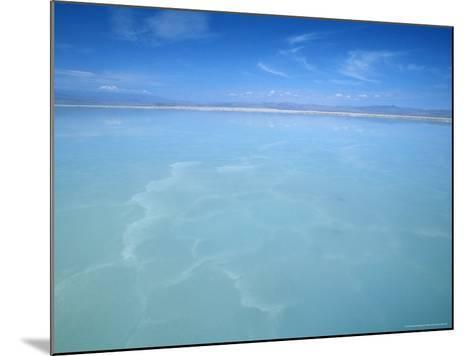 Salt-Laden Water of Lagunada Salada in the Salar de Atacama, Salt Flat, Atacama Desert, Chile-Lin Alder-Mounted Photographic Print