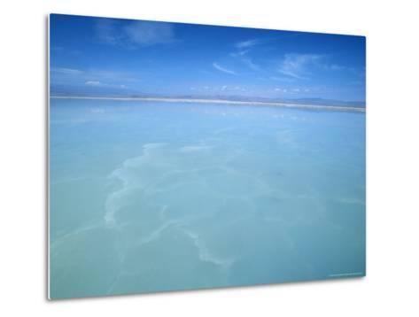 Salt-Laden Water of Lagunada Salada in the Salar de Atacama, Salt Flat, Atacama Desert, Chile-Lin Alder-Metal Print